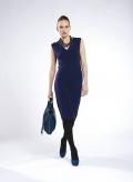 Dress 2V midi sleeveless wool/visc