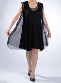 Φόρεμα Μύτες Midi Χωρίς Μανίκι Tulle 100% Pes