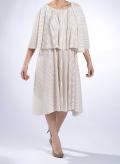 Φόρεμα 2 Level Midi Plisse Thick 100% Polyester