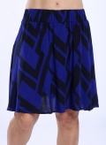 Skirt Mini Big Black Print 100% Viscose