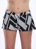 Shorts Big Black Print 100% Viscose