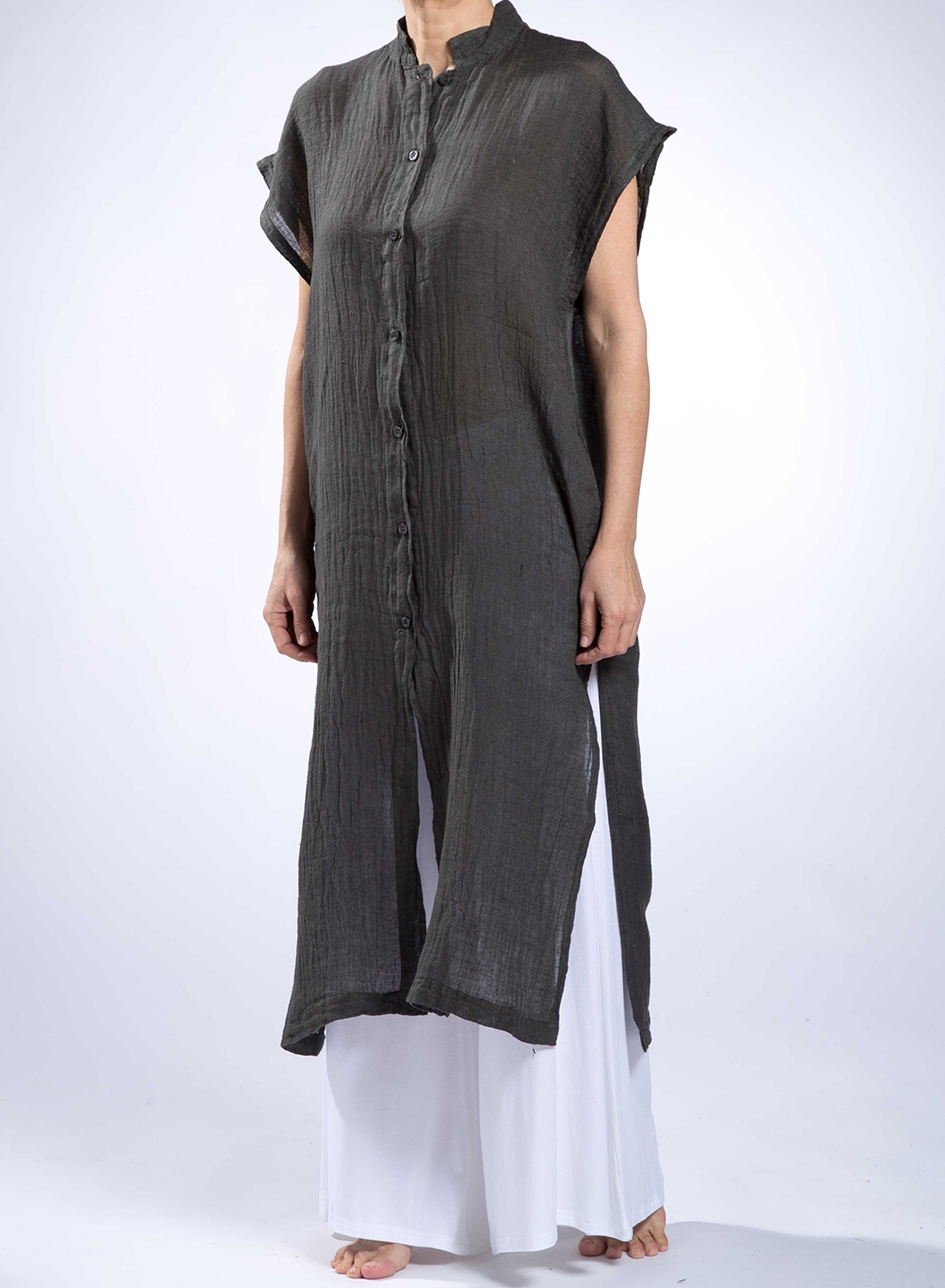 8c73d9714f88 Dress Semizie Square Sleeveless 100% Linen - JOIN CLOTHES