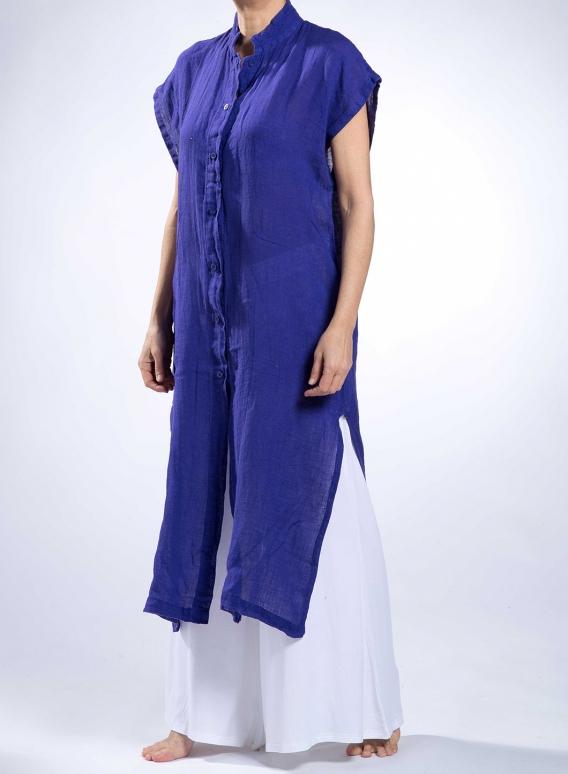 Dress Semizie Square Sleeveless 100% Linen