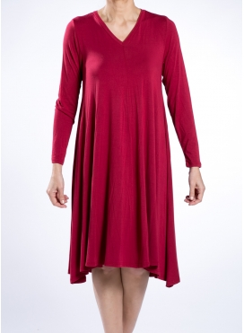 Dress V Nepal Long Sleeve Elastic