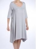Dress Asymmetric 3/4 sleeves elastic