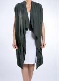 Jacket Clock Sleeveless Elastic