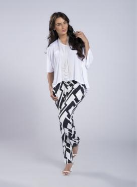 Pants Simple Big Black Print 100% Viscose