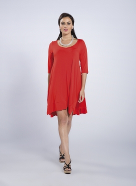 Dress Aria 3/4 sleeves midi elastic