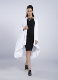 Dress Boatneck midi 3/4 sleeves elastic