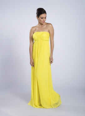 Strapless ethereal dress / jumpsuit Air Maxi satin/chiffon silk