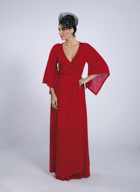 """Φορεμα """"κρουαζε"""" Μaxi crepe"""