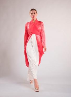Jacket Class chiffon / satin silk