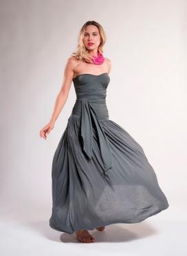 Φούστα/Φόρεμα σούρα maxi