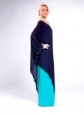 Dress 1 Shoulder Layer 100% Viscose