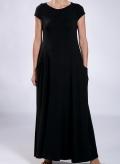"""Φόρεμα """"Boatneck"""" pockets maxi cup sleeves ελαστικό"""