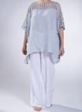 """Μπλούζα """"Front Lace"""" 100% λινή γάζα"""