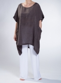 Blouse Square Pockets Long 100% Linen