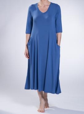 Φόρεμα Asymmetric τσέπες ελαστικό sized