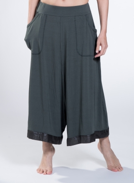 Pants Wide cropped double sized