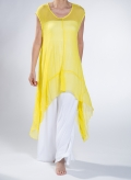 Blouse Shark Bite Sleeveless Chiffon 100% Silk