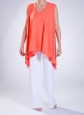 Blouse Deep side palette sleeve elastic