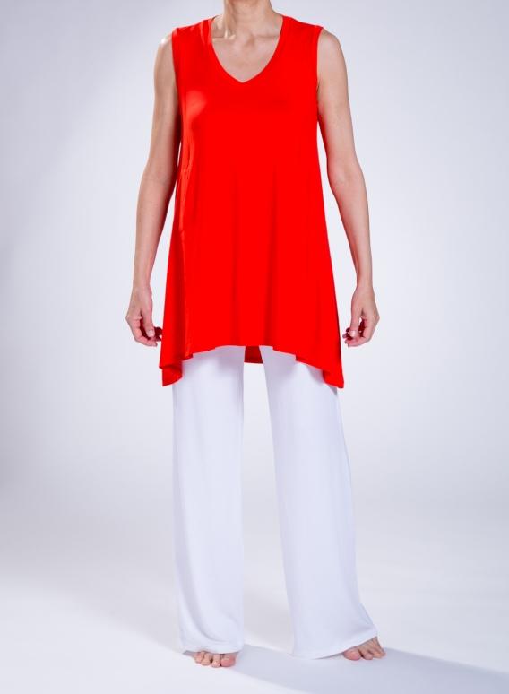 Μπλούζα Asymmetric sleeveless slit pockets elastic