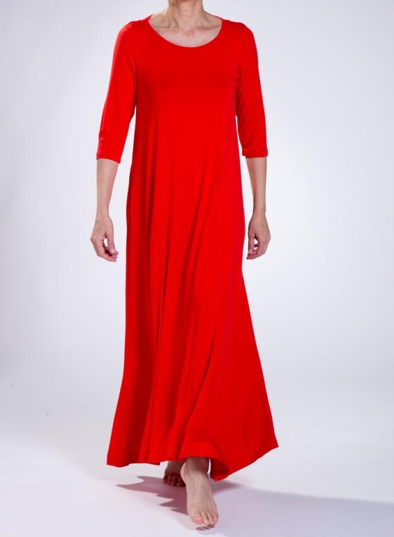 Φόρεμα Harm 3/4 sleeve Maxi elastic sized