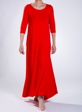 Φόρεμα Harm 3/4 Sleeve Maxi Elastic Sized
