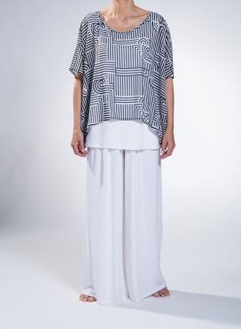 Μπλούζα Op Art τετράγωνη διπλή