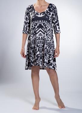 Φόρεμα Asymmetric Midi Neoclassical print