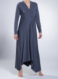 Dress V Croisee/Asymmetric Maxi elastic