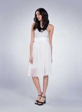 Dress Simple strapless elastic