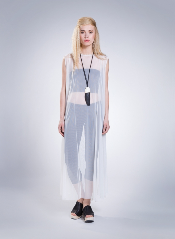 Φόρεμα River Sleeveless Maxi Tulle