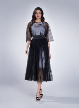 Φούστα Gather Tulle Maxi