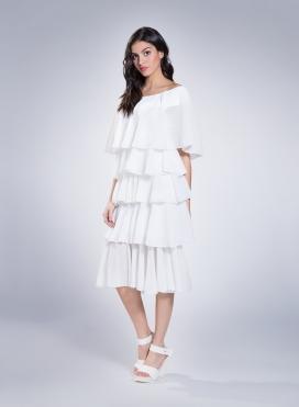 Dress 5 Volant Plisse Thin 100% Pes