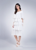 Φόρεμα 5 βολαν plisse thin 100%PES