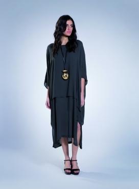 Φόρεμα Τετράγωνο Διπλό Thai 100% Viscose