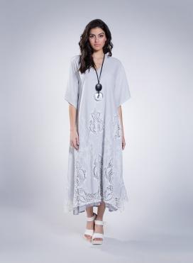 Καφτάνι Voile Big Embroidery 100% Cotton