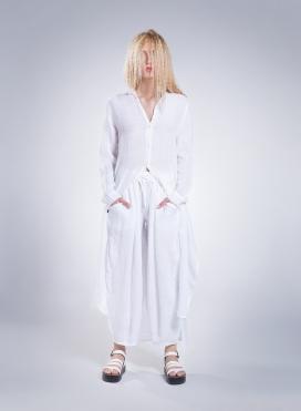 Φόρεμα Semizie Summer Μακρύ Μανίκι Λινό