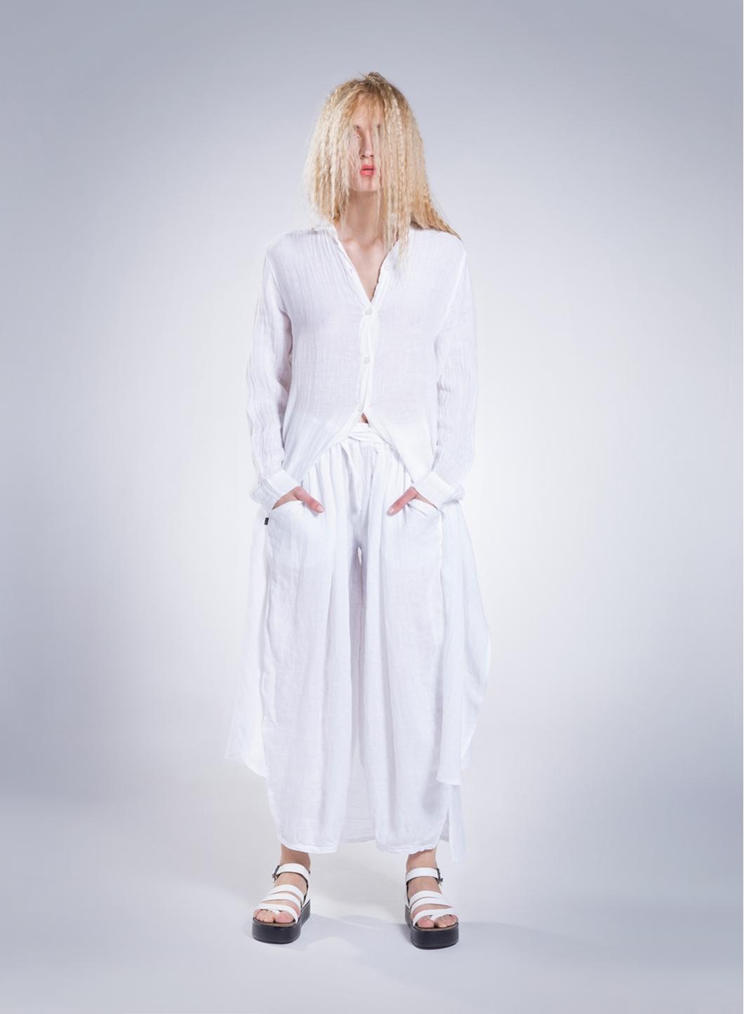 7f7c2a6a312 Dress Semizie Summer long sleeve 100% linen