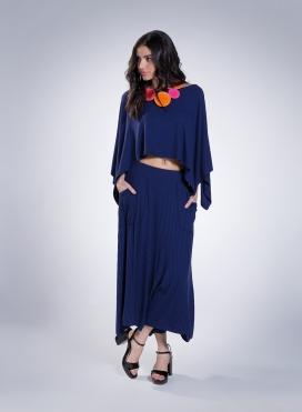 Skirt Zip Pockets 0,5 Rib Elastic