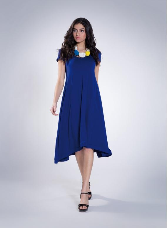 Dress Hemline Cap Sleeve 50/50