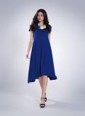 Φόρεμα Hemline Cap Sleeve ελαστικό