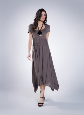 Dress Ζoni Cap Sleeve elastic