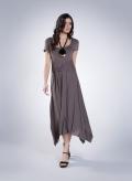 Dress Ζoni Cap Sleeve elastic