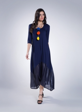 Dress Delos maxi 3/4 sleeve maxi double