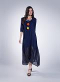 Φόρεμα Delos 3/4 Μανικια maxi double