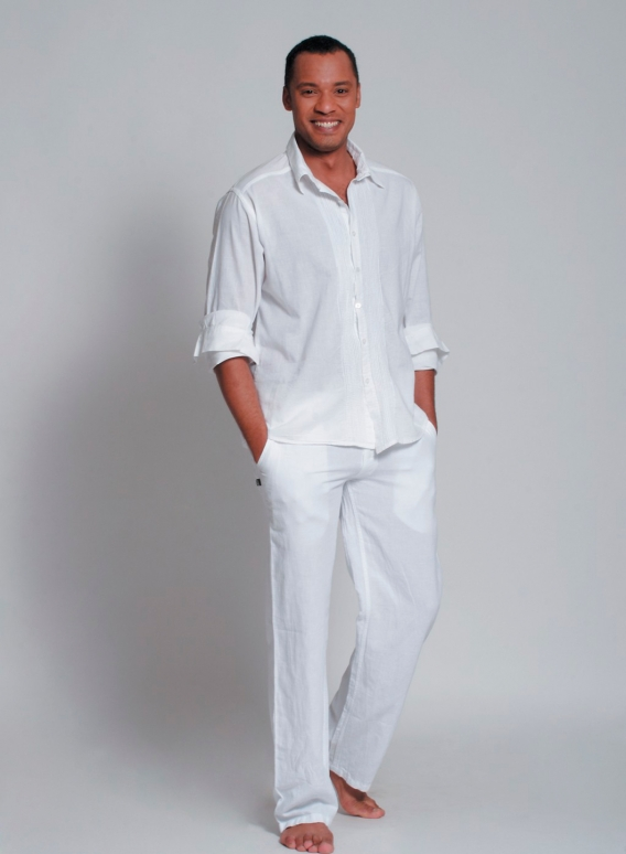 Pants 5pocket linen