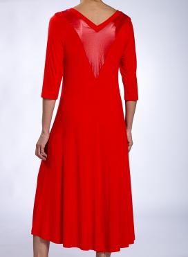 Dress Sheer Back midi double