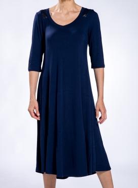 Φόρεμα Sheer Back midi double